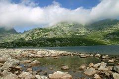 Glacial lake landscape. From Retezat Mountains - Romania stock photos