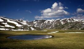 Glacial lake in Macedonia. Glacial lake in the Mavrovo region, Macedonia. photo taken in Spring stock image