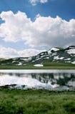 Glacial lake in Macedonia. Glacial lake in the Mavrovo region, Macedonia royalty free stock photography
