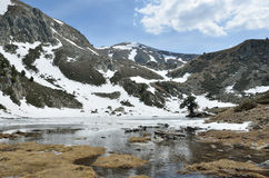Glacial lake in the Madriu-Perafita-Claror valley Royalty Free Stock Images