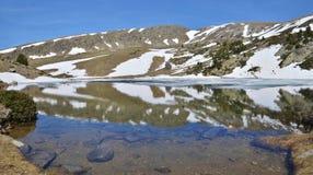Glacial lake in the Madriu-Perafita-Claror valley stock images