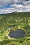 Glacial lake Maly Staw. Landscape with glacial lake Maly Staw in Krkonose mountains Royalty Free Stock Photos