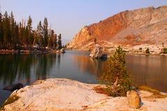 Glacial lake at Mineral King. Sequoia National Park stock photos