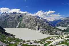 Glacial lake in the mountain Royalty Free Stock Photography