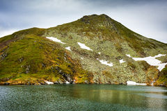 Glacial lake and mountains Stock Photography