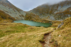 Glacial lake in the mountains Royalty Free Stock Images