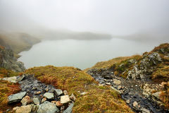 Glacial lake in the mountains Stock Image