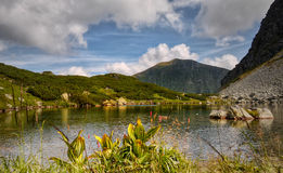 Glacial Lake Mountains Nature National Park Royalty Free Stock Images