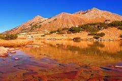Glacial lake at national park Pirin, Bulgaria stock photo