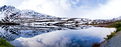 Glacial Lake Reflection Stock Photo
