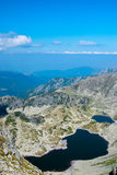Glacial lake in Retezat Stock Image