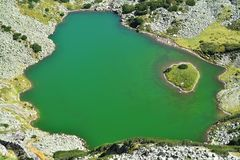 Glacial lake. In retezat national park, romania royalty free stock photography