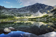 The glacial lake in Rila Royalty Free Stock Image