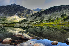 The glacial lake in Rila Royalty Free Stock Photography