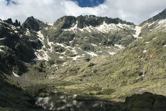 Glacial lake in Sierra de Gredos Stock Photography