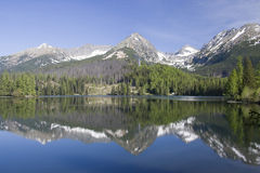 Glacial lake in Tatra Mountains Stock Photos