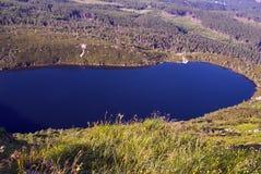 Glacial lake Wielki Staw in the Giant Mountains Royalty Free Stock Photos
