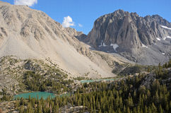 Glacial lakes, John Muir Wilderness Stock Photos