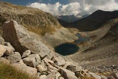 Glacial lakes in Posets-Maladeta, Pyrenees, Spain Stock Photo