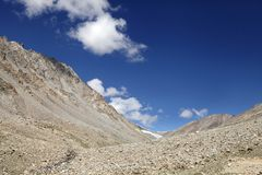Glacial landforms in Ladakh Stock Image