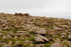 Glacial landscape. Glacial rocks landscape, Shetland, Scotland stock photos
