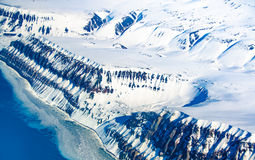 Glacial landscapes, Spitsbergen, Svalbard, Norway Royalty Free Stock Photography