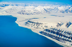 Glacial landscapes, Spitsbergen, Svalbard, Norway Royalty Free Stock Photos