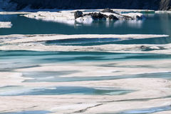 Glacial Meltwater from Grinnell Glacier Stock Photo