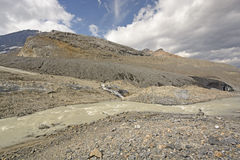 Glacial Moraine in the Mountains Royalty Free Stock Image