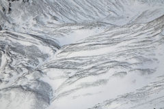 Glacial moraines in the Arctic (Spitsbergen) Stock Image