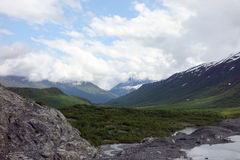 Glacial morraines and run-off near valdez Stock Images