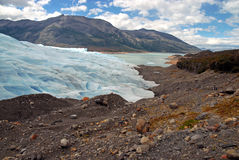 Glacial mountain landscape in Patagonia. Southern tip of South America including Argentina and Chile royalty free stock photo