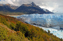 Glacial mountain landscape in Patagonia Royalty Free Stock Photography