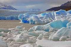 Glacial mountain landscape in Patagonia Stock Photo