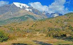 Glacial mountain landscape in Patagonia. Southern tip of South America including Argentina and Chile stock photography