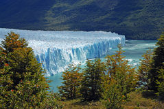 Glacial mountain landscape in Patagonia. Southern tip of South America including Argentina and Chile royalty free stock photos