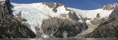 Glacial Panorama in Alaska Stock Image