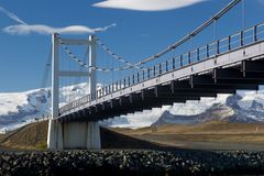 Glacial River Bridge spans That Jokulsarlon Stock Photo