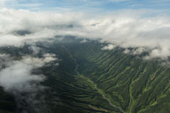 Glacial river between the hills. South Kamchatka Nature Park. Royalty Free Stock Photo