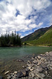 Glacial River and Lake. This is a picture of a beautiful glacial river in Alaska stock photos