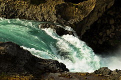 Glacial river leading from Godafoss waterfall, Iceland Stock Images