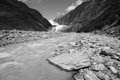 Glacial river in New Zealand Royalty Free Stock Images