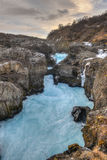 Glacial River Pool, Barnafoss, Iceland Stock Images