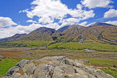 Glacial River Valley and hills Stock Photography