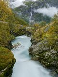 Glacial river and waterfall Stock Photos
