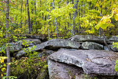 Glacial Rock Formation at Banning State Park Stock Image