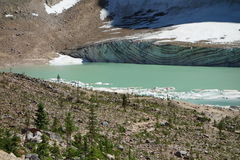 A glacial scene in the beautiful rocky mountains. Royalty Free Stock Photography