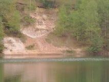 Glacial sssi. Hdr glacial sssi caveman lake royalty free stock photography
