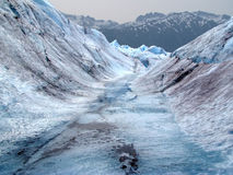 Glacial Stream #2. A glacial stream on Mendenhall Glacier located in Juneau, Alaska royalty free stock photography