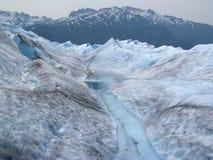 Glacial Stream #4. A glacial stream on Mendenhall Glacier in Juneau, Alaska royalty free stock photos